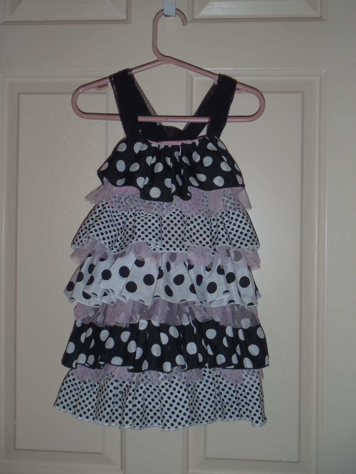 77d4344db Mud Pie Baby Girl Dress Pink and Black Polka and 50 similar items