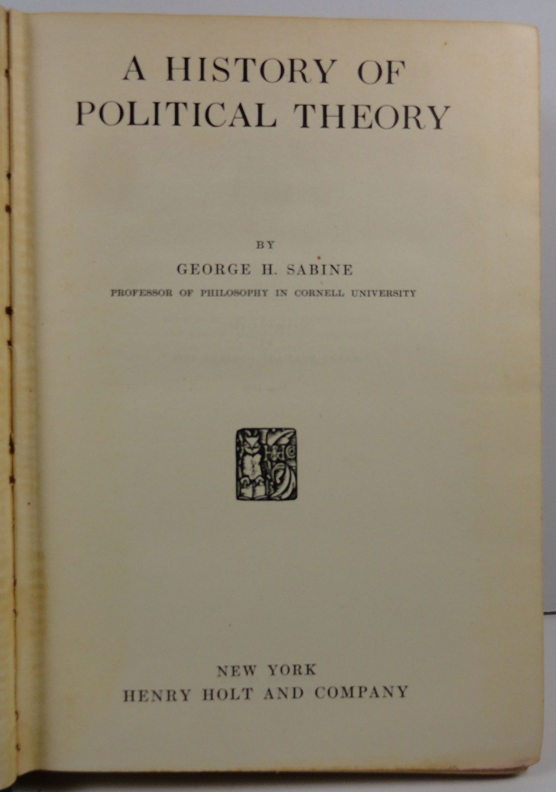 A History of Political Theory by George H. Sabine 1946