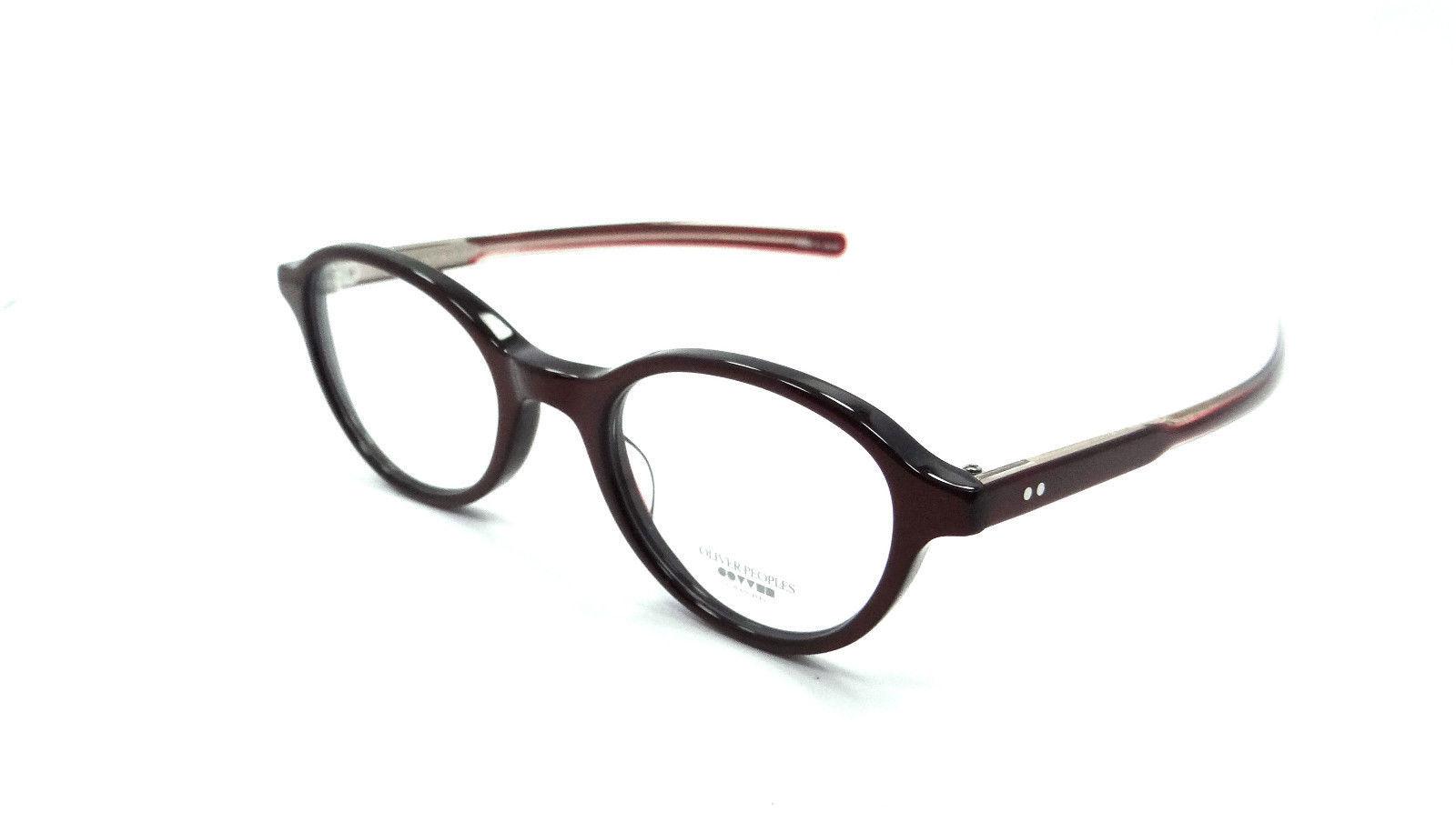 18dfedbcc12 Oliver Peoples Rx Eyeglasses Frames Rowan Roc Rose 46x21 Burgundy Made in  Japan -  70.56