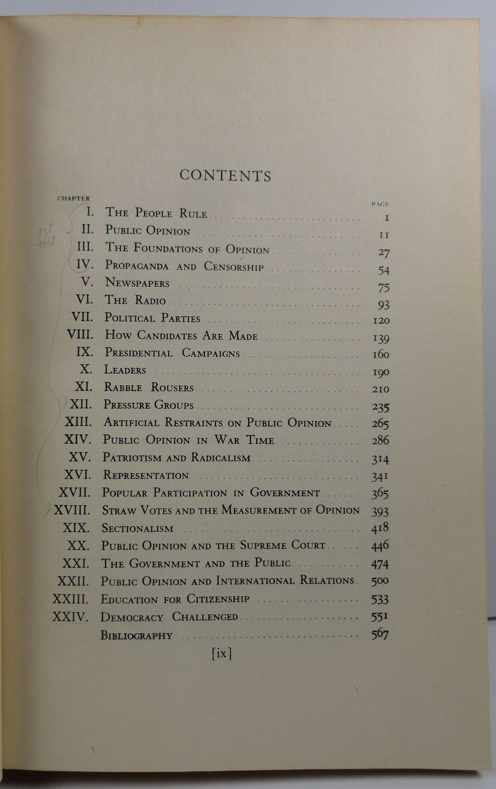 Public Opinion in a Democracy by Charles W. Smith 1947