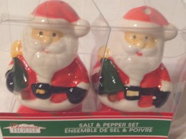 Santa Claus Salt & Pepper Shakers New Ceramic Christmas - €7,33 EUR