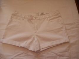 Women's Juniors a.n.a.  Denim Roll Cuff Shorts White Size 32/14  NEW W/O... - $24.74