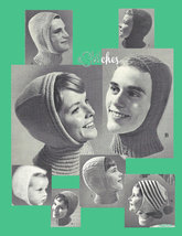 PDF Vintage Helmets for the Whole Family - 8 Knitting patterns (PDF 5050) - $4.95