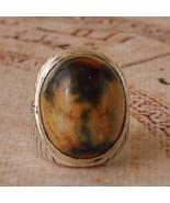 Yemeni Agate Aqeeq silver Ring/ Yemen Yemeni Ak... - $68.31