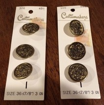 Vintage Gold Crown & Crest 6 Buttons by Costuma... - $12.71