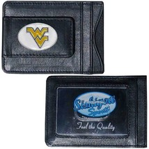 west virginia mountaineers logo ncaa college emblem leather cash & cardholder - $27.07