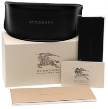 New Burberry Leather Case Large Black For Sunglasses Eyeglasses w/ Accessories5 - $27.23