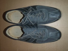 Cole Haan Grand OS Sneakers Black Leather Nylon Mens Shoes Size 11 M - $36.47