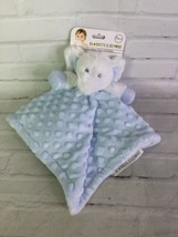 Blankets & Beyond Elephant Blue White Dots Baby Plush Security Blanket L... - $39.59