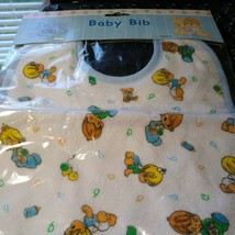 Vintage Precious Moments Baby Bib 2003 sealed Boy design, blue - $5.05