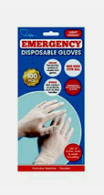 Emergency Disposable Gloves Universal One Size Fit All Polyethylene Glov... - $7.31
