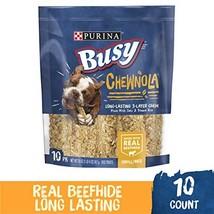 Purina Busy Chewnola Dog Treats - 10 Chewbones - 20 OZ image 1