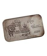 MERRY CHRISTMAS 1984 By Crown Mint 1 oz. Silver Art Bar  - $54.45