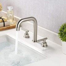 KES 8-Inch Widespread Bathroom Faucet 3 Hole Brushed Nickel - $44.95