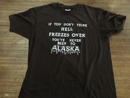 VTG Hell Freezes Over Alaska Hanes T Shirt 50/50 Mens XL - $17.09