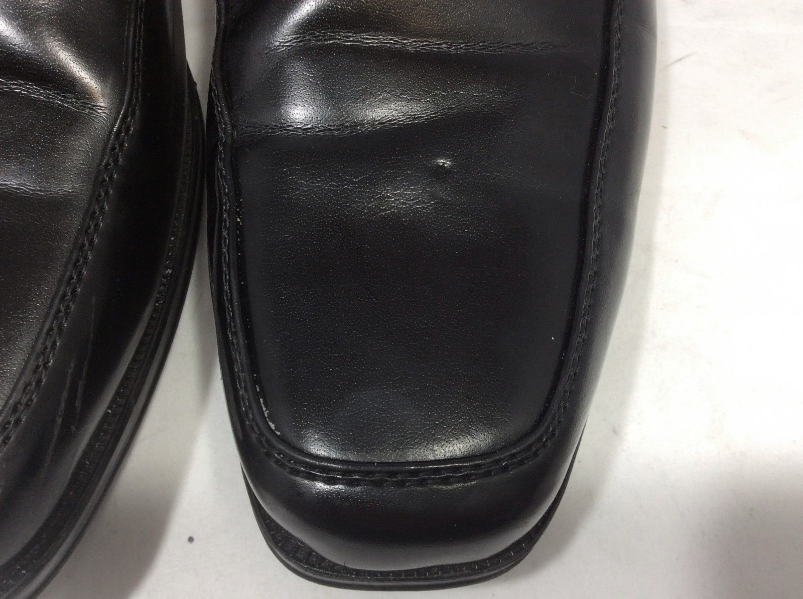Dexter Comfort Mens Oxford Black Dress Shoes Apron Toe 162313 Size 8.5