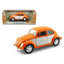 1967 Volkswagen Beetle Orange/White 1/18 Diecast Model Car by Greenlight 12838 - $44.99