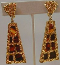 Vintage CROWN TRIFARI Jonathan Bailey Dangle Clip-on Earrings - $140.00