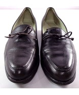 Cole Haan Womens Black Leather Loafers Size 7.5 AA Slip On Shoes - $49.95