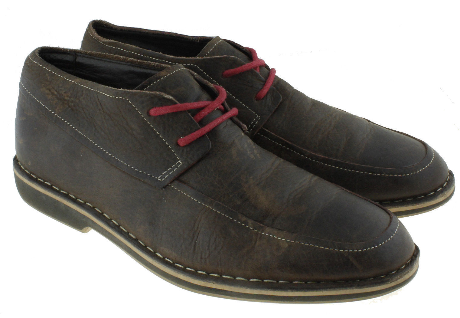 9dd5df88453 Cole Haan Mens Oxford Shoes Dark Brown Leather Size 11 Plain Toe Casual  Lace Up