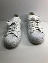 Youth Adidas Originals Superstar Size 5.5 White Leather Sneakers - ART B23641 - $14.01