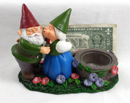 Garden Gnomes Yankee Candle Retired TeaLight Candle Holder Gnome Couple ... - $24.99