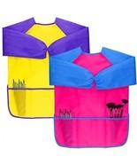Dreampark 2 Pack Kids Art Aprons Children Art Smock With Waterproof Lon... - $22.88