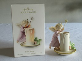 Hallmark Keepsake Ornament 2008 Let It Shine Angel Candle Angel w/ Light... - $12.99