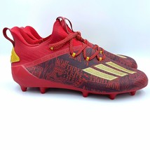 New Mens Adidas Adizero New Reign Power Red Gold Football Cleats Size 12... - $66.49