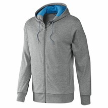 Adidas Climalite Performance Full Zip Hoodie Top Jacket F51139 Grey - $43.44
