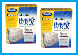2 ~ BestAir Humidifier Wick Filter HumidiWick Antimicrobial  Essick Kenm... - $30.78