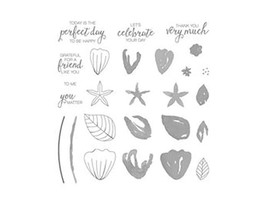 Stampin' Up! Bunch of Blossoms Clear Cling Stamp Set #141573 - $13.99