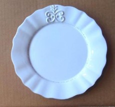 """Bianca Fleur by American Atelier Salad Plate 8 1/8"""" White Retired - $10.00"""