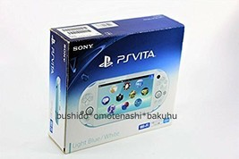 Sony PlayStation Vita Launch Edition 1GB Light Blue & White Handheld System Used - $188.56