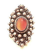 Red Onyx 925 Sterling Silver Statement Ring Size 5 - $50.00