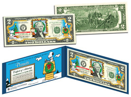 USA $2 Dollar Bill PEANUTS Charlie Brown & Snoopy CHRISTMAS Certificated... - $17.66