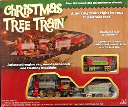 New Light Sounds ANIMATED CHRISTMAS TRAIN SET Holiday Decoration Mounts ... - $58.77