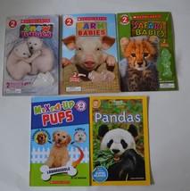 Lot of 5 Scholastic Baby Animal Books Level 2 Reader Safari Snow Farm Ba... - $8.15