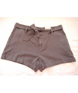 Women's Misses a.n.a. Tape Belted Twill Shorts Castlerock Size 33/16 NEW  - $21.77
