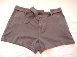 Women's Misses a.n.a. Tape Belted Twill Shorts Castlerock Size 30/10 NEW  - $21.77