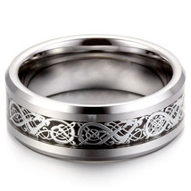 Men Gold Silver Dragon Stainless Steel Wedding Couple Rings Band Ring Si... - $211,01 MXN