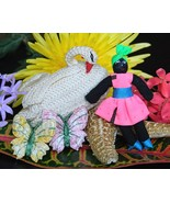 Vintage Handcrafted Crochet Swan Bird Handmade Caribbean Jamaican Doll - €9,28 EUR