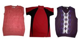 LOT OF 39 MEN'S SWEATERS AND POLOS BY CHERESKIN AND ENGLISH LAUNDRY- ALL... - $197.99