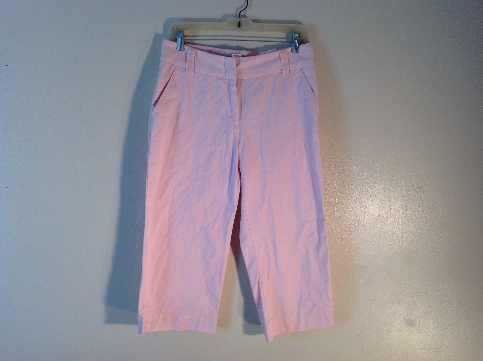 Steve & Barry's 100% Cotton Favorite Fit Light Rosy Pink Capri Pants Size 8