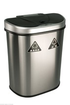 Nine Stars 18.5 Gal Trash Can / Recycler Touchless Automatic Motion Sens... - $113.52