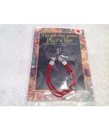 Silver Tone Red Leathers and Pewter Fashion Bracelet Plant Tree Believe ... - $24.74