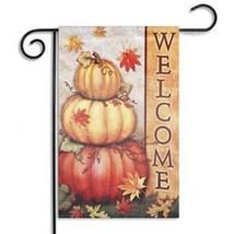 30x45cm Halloween Polyester Pumpkin Leaves Welcome Flag Garden Holiday D... - $14.83