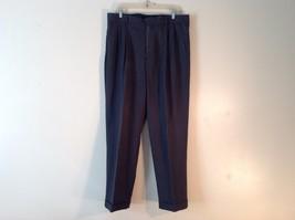 Eddie Bauer Men's 36/32 100% Wool Dark Gray Cuffed Dress Pants