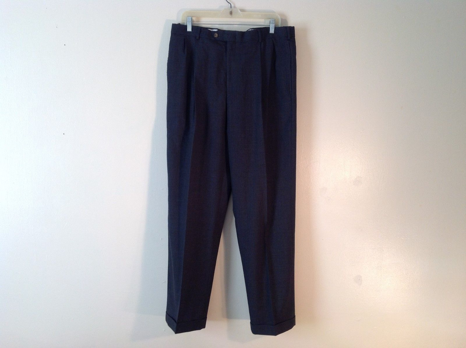 Men's Tommy Hilfiger 36/32 Dark Grey Dress Pants