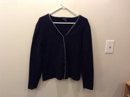 Women's Loulou Black Button Up Long Sleeve Cardigan Size S image 1